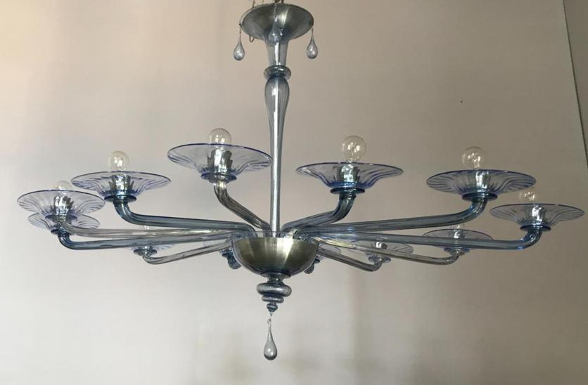 Chandelier in Murano glass by Venini