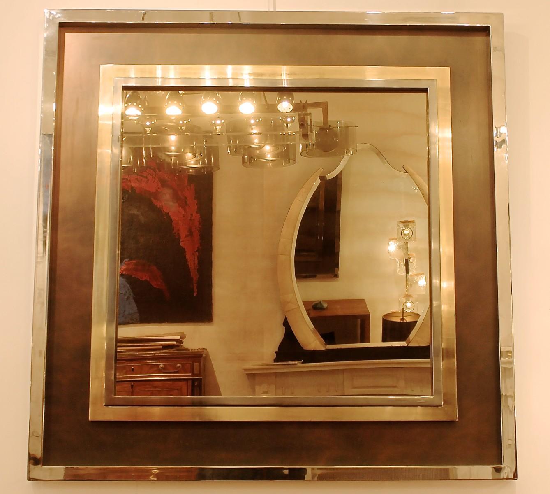smoked mirrored furniture. Large 1970\u0027s Chome Framed Smoked Mirror - Furniture Watteeu. \u2039 Mirrored
