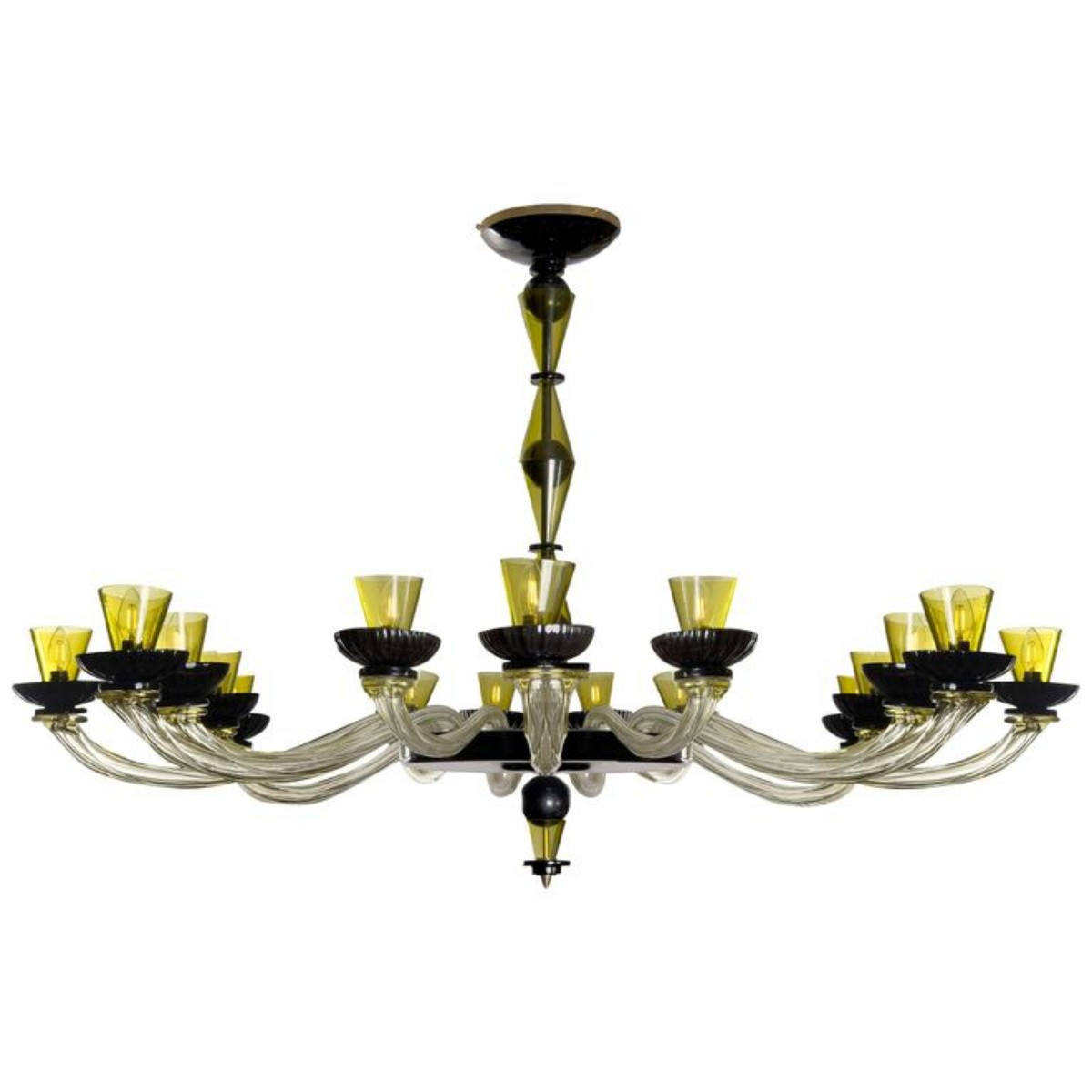 Murano Glass Chandelier Large: Large Cenedese Murano Glass Chandelier, Circa 1980