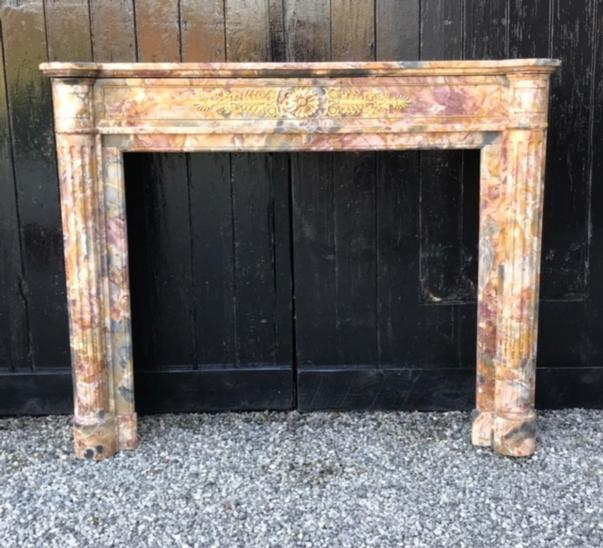 Marble Fireplace Louis XVI Style 19th.C