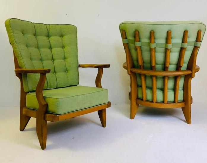 Pair of armchairs model 'Grand Rest' by Guillerme et Chambron