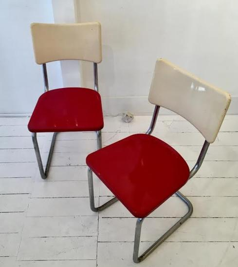 Pair of chairs in iron c.1930