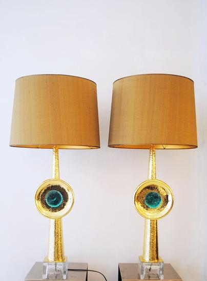 Pair of Two Lamps, 21th century Italy
