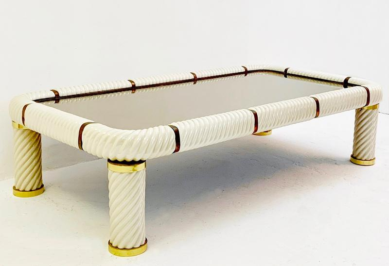 Porcelain Coffee Table By Tommaso Barbi ,Italy 1970s