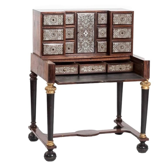 Timeless 18th Century Rosewood and Tin Marquetry Writing Desk