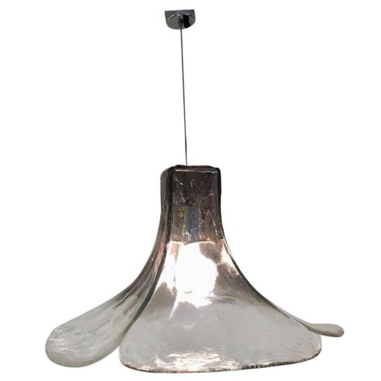 Tulip hanging lamp LS185 by Carlo Nason for Mazzega, 1960s